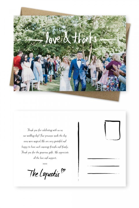 001 Unique Wedding Thank You Card Template Image  Photoshop Word Etsy480