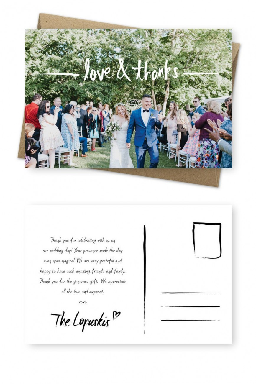 001 Unique Wedding Thank You Card Template Image  Photoshop Word Etsy868