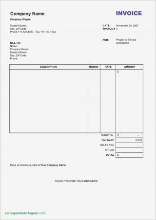 001 Unique Word Invoice Template Free Photo  M Download320