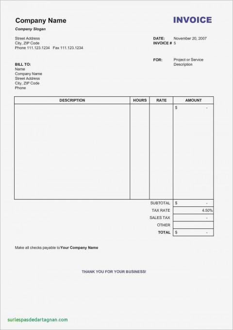 001 Unique Word Invoice Template Free Photo  M Download480