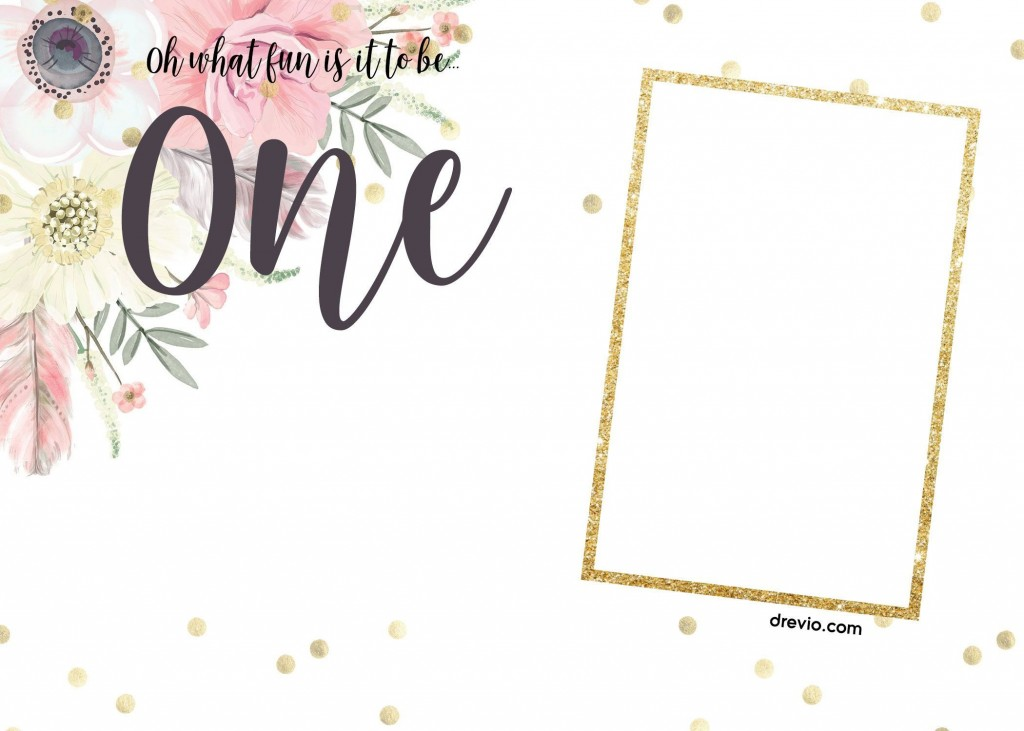 001 Unusual 1st Birthday Invitation Template Example  Background Design Blank For Girl First Baby Boy Free Download IndianLarge