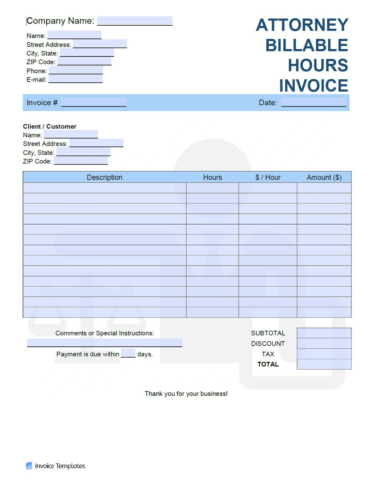 001 Unusual Billable Hour Template Excel Free Sample Full