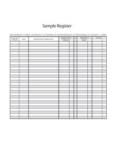 001 Unusual Check Register Template Printable High Resolution  Pdf ExcelFull