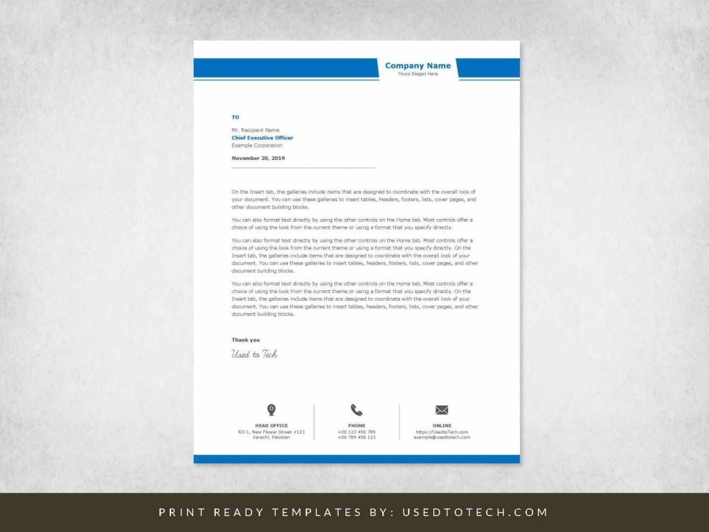 001 Unusual Company Letterhead Template Word High Resolution  Busines 2007 Free DownloadLarge