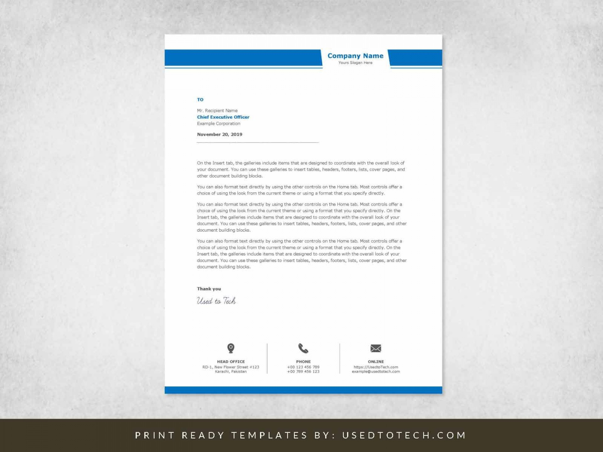 001 Unusual Company Letterhead Template Word High Resolution  Busines 2007 Free Download1920