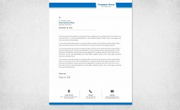 001 Unusual Company Letterhead Template Word High Resolution  Busines 2007 Free Download
