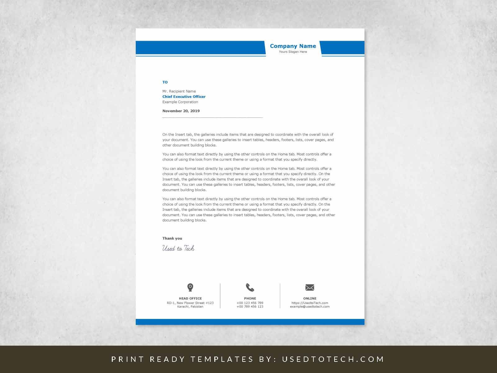 001 Unusual Company Letterhead Template Word High Resolution  Busines 2007 Free DownloadFull