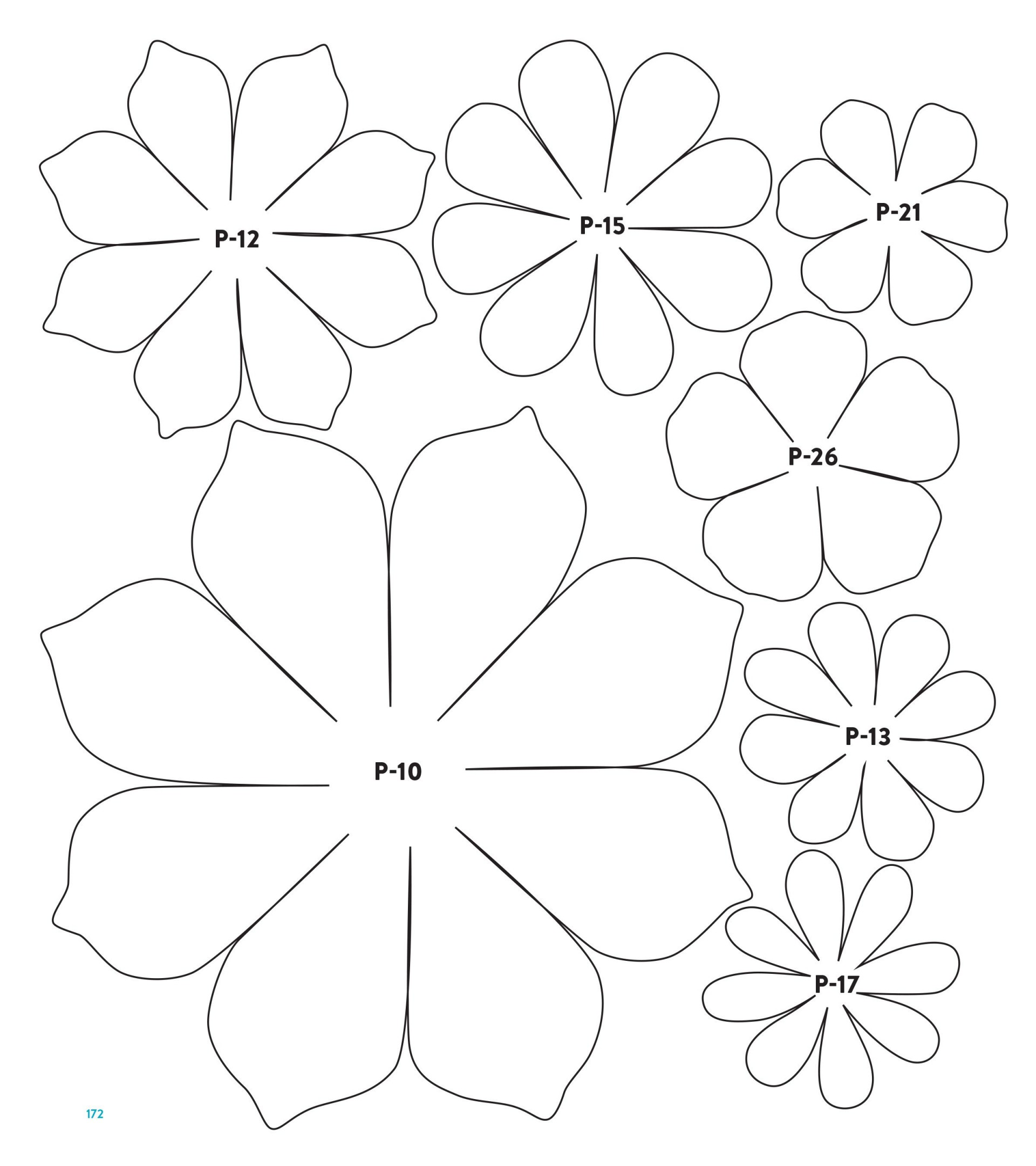 001 Unusual Downloadable Free Printable Paper Flower Template Picture  Templates1920