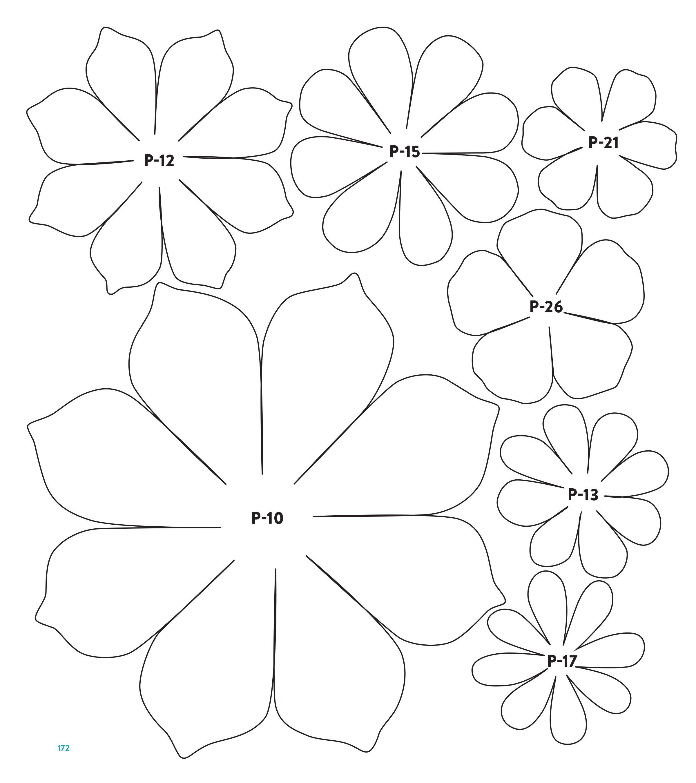 001 Unusual Downloadable Free Printable Paper Flower Template Picture  TemplatesFull