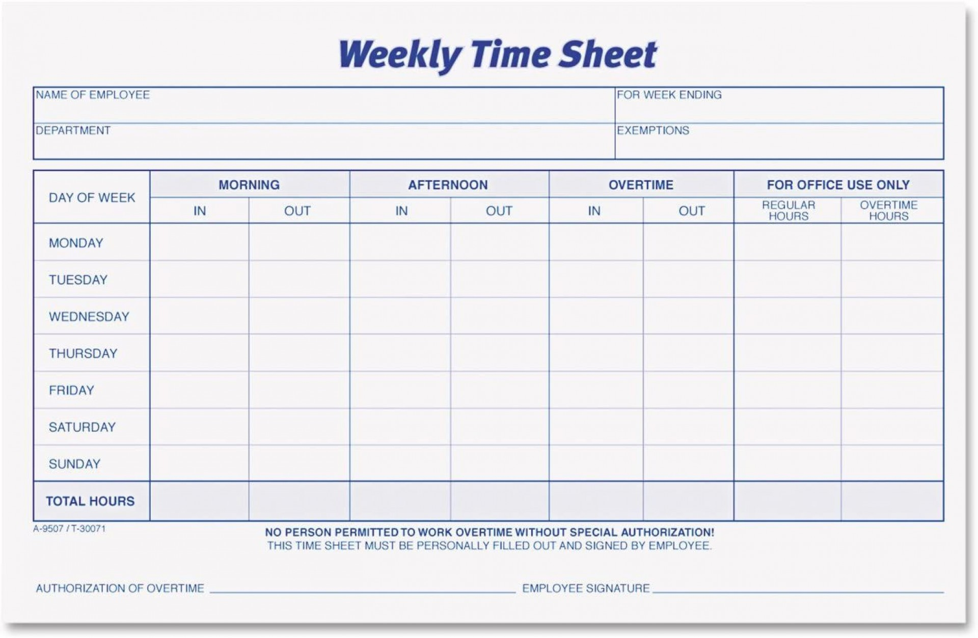 001 Unusual Employee Time Card Form Inspiration  Timesheet Template Excel Sheet Free1920