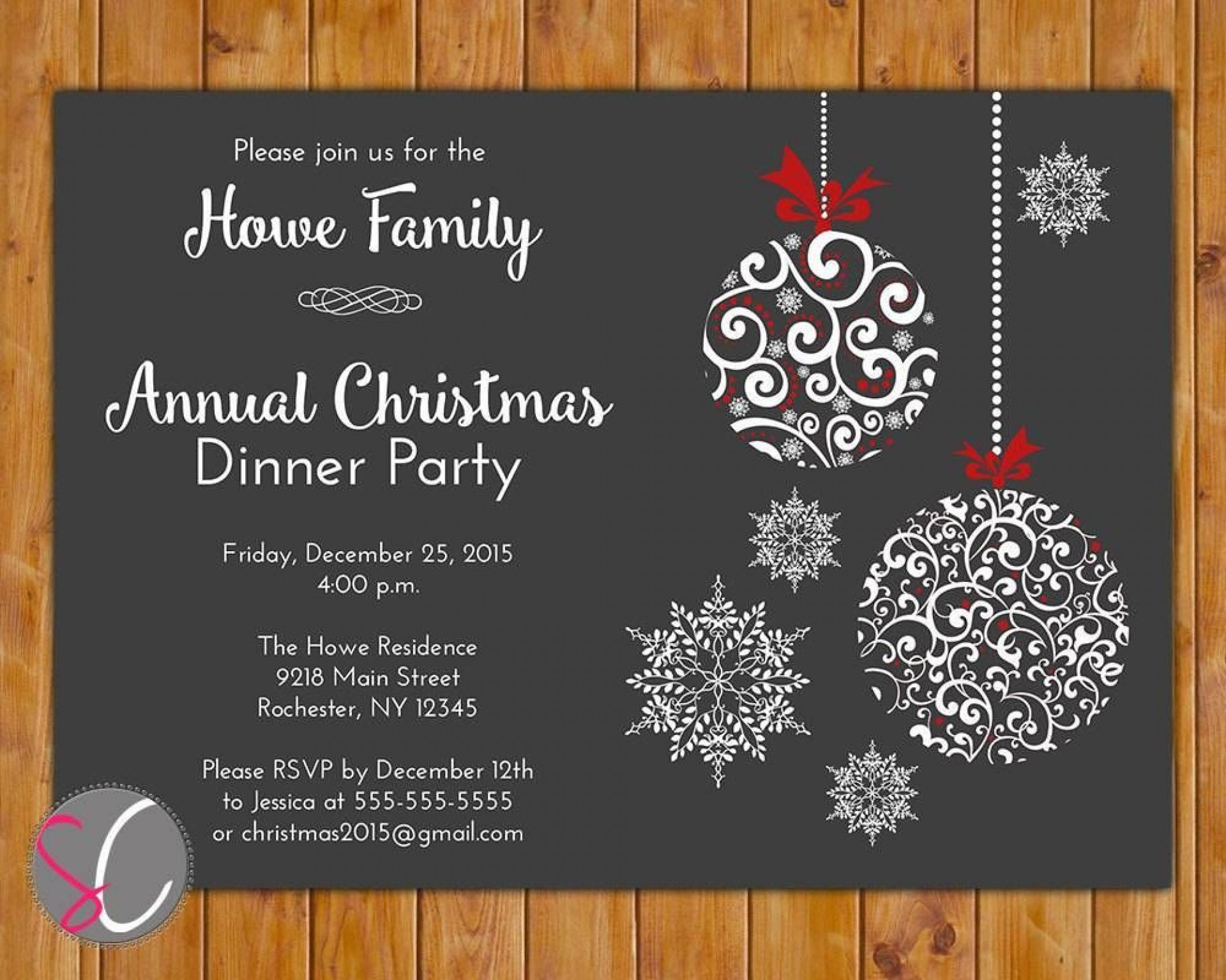 001 Unusual Free Email Holiday Party Invitation Template Picture  Templates Christma1920