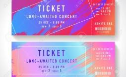 001 Unusual Free Fake Concert Ticket Template Sample
