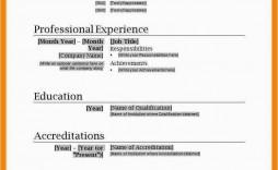 001 Unusual Free Simple Resume Template Microsoft Word Image