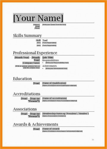001 Unusual Free Simple Resume Template Microsoft Word Image 360