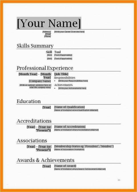 001 Unusual Free Simple Resume Template Microsoft Word Image 480