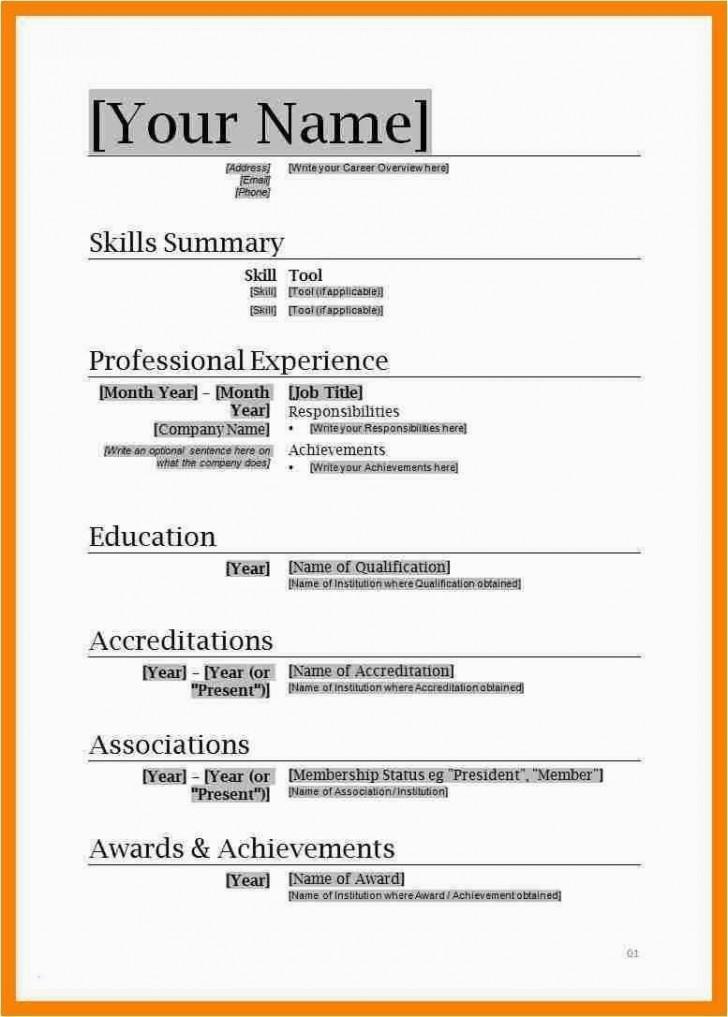 001 Unusual Free Simple Resume Template Microsoft Word Image 728