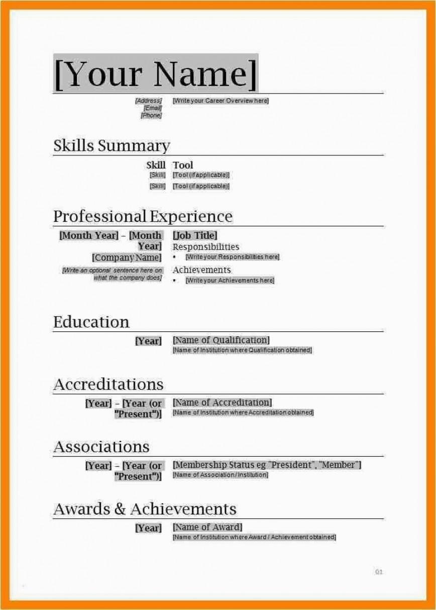001 Unusual Free Simple Resume Template Microsoft Word Image 868