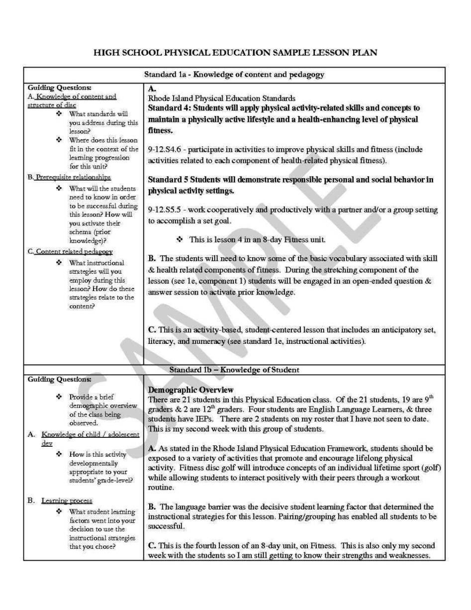 001 Unusual Lesson Plan Template High School Math Inspiration  Example For FreeFull