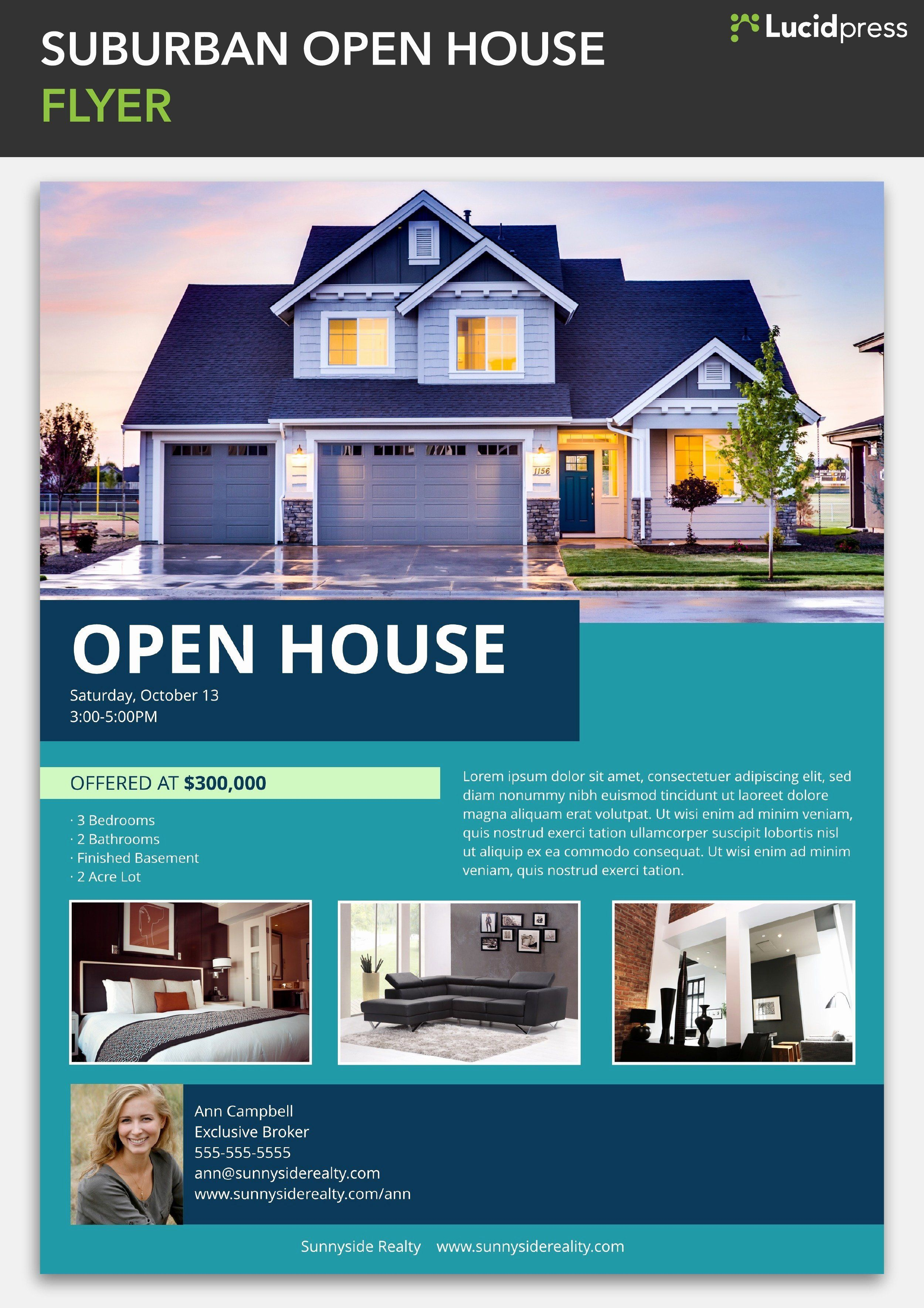 001 Unusual Open House Flyer Template Free Idea  Holiday Preschool School MicrosoftFull