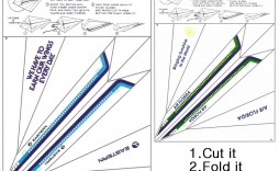 001 Unusual Printable Paper Airplane Instruction Image  Instructions Free Pdf Simple