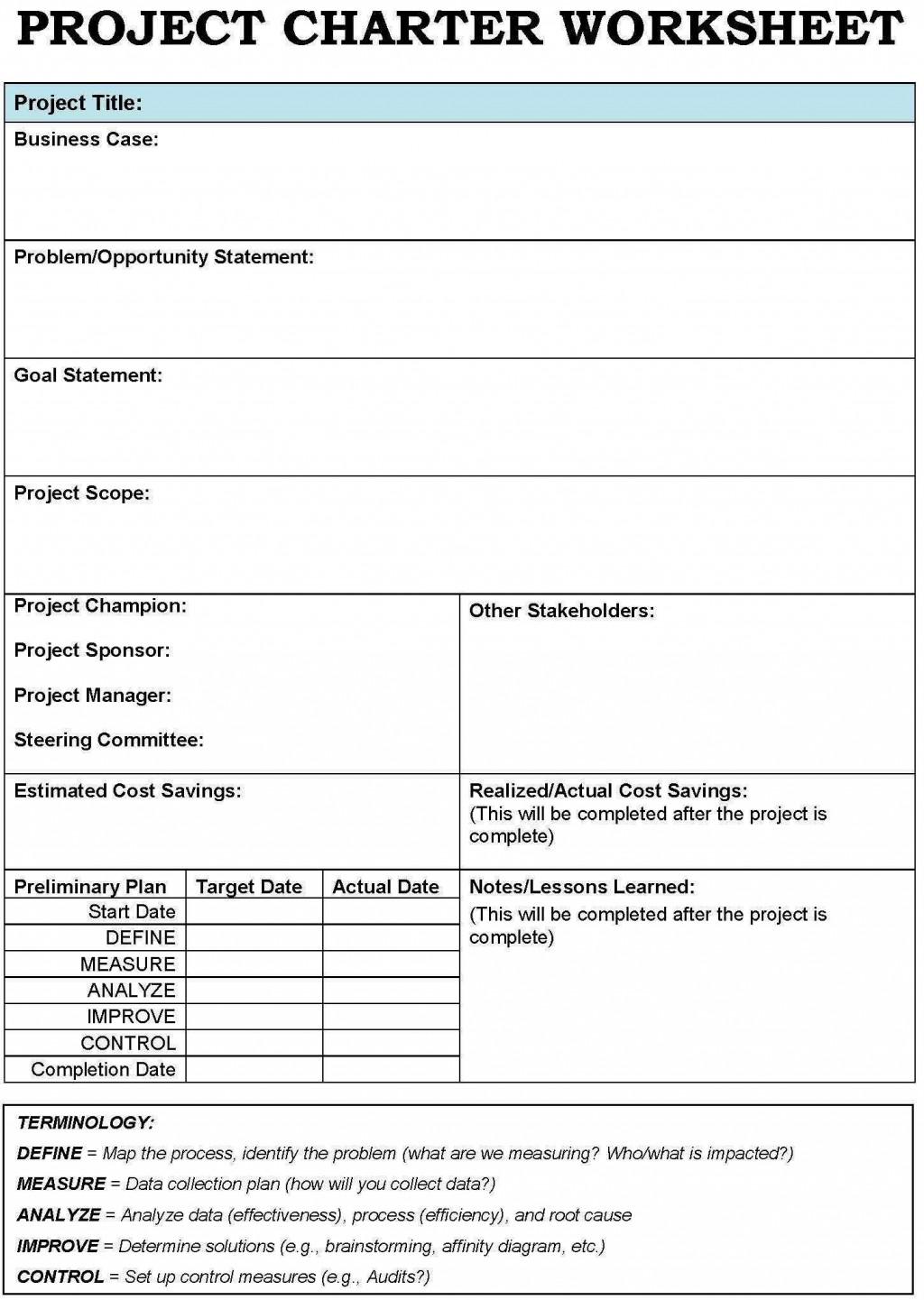 001 Unusual Project Charter Template Excel Inspiration  Lean Pmbok NederlandLarge