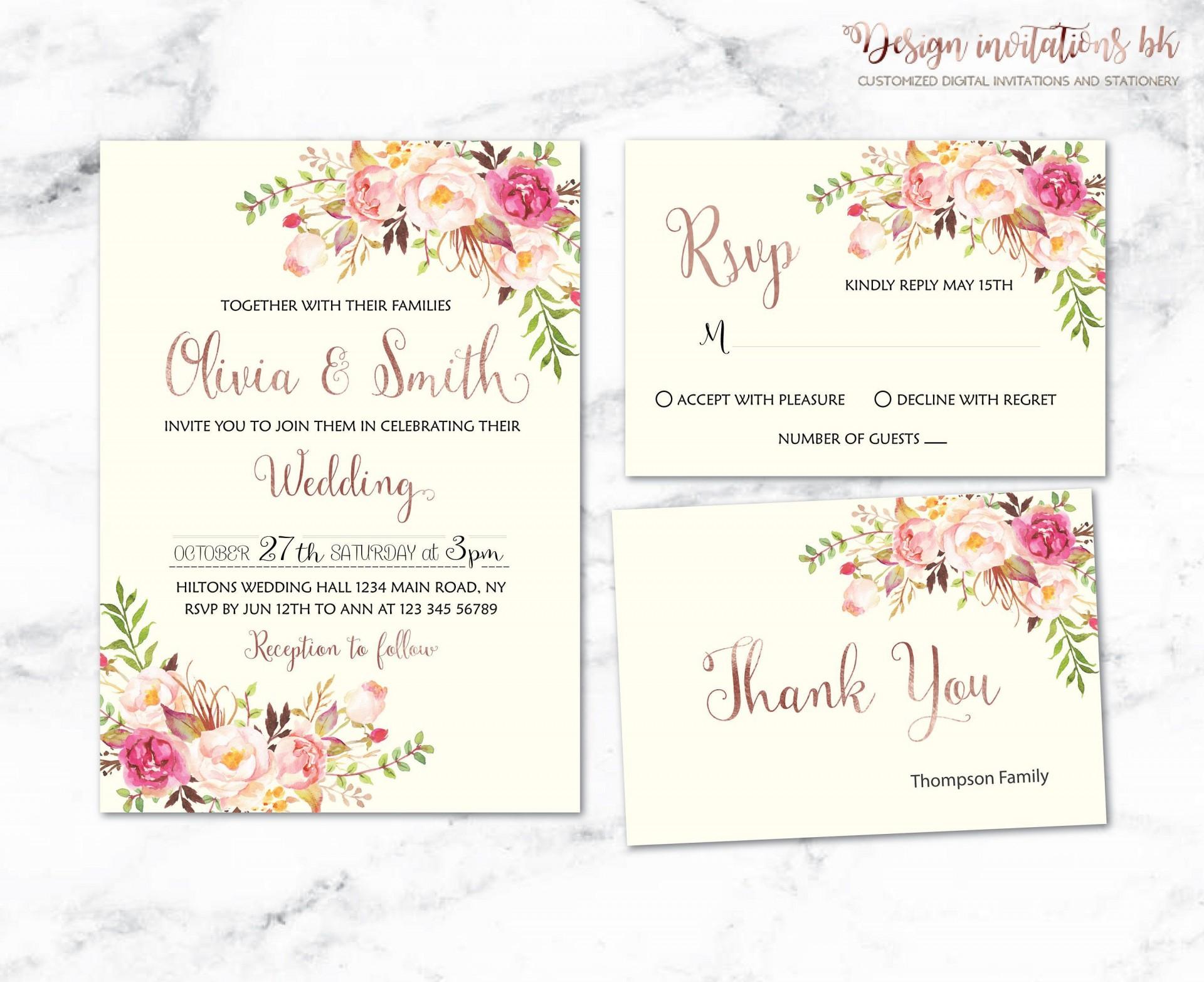 001 Unusual Sample Wedding Invitation Template Design  Templates Wording Card1920