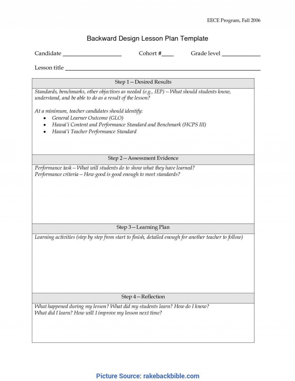 001 Unusual Simple Lesson Plan Template Image  Basic Format For Preschool Doc KindergartenLarge
