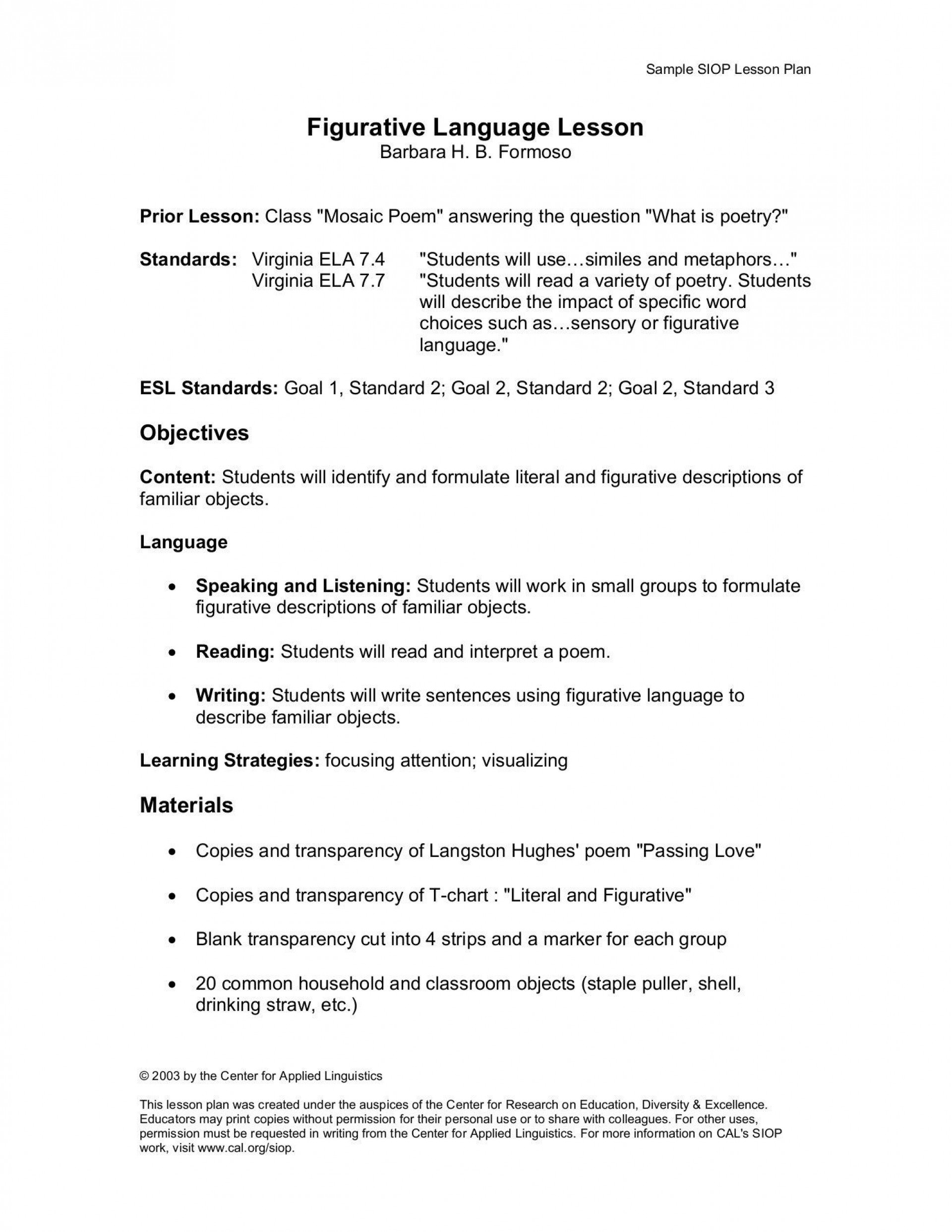 001 Unusual Siop Lesson Plan Template 1 Example High Definition 1920