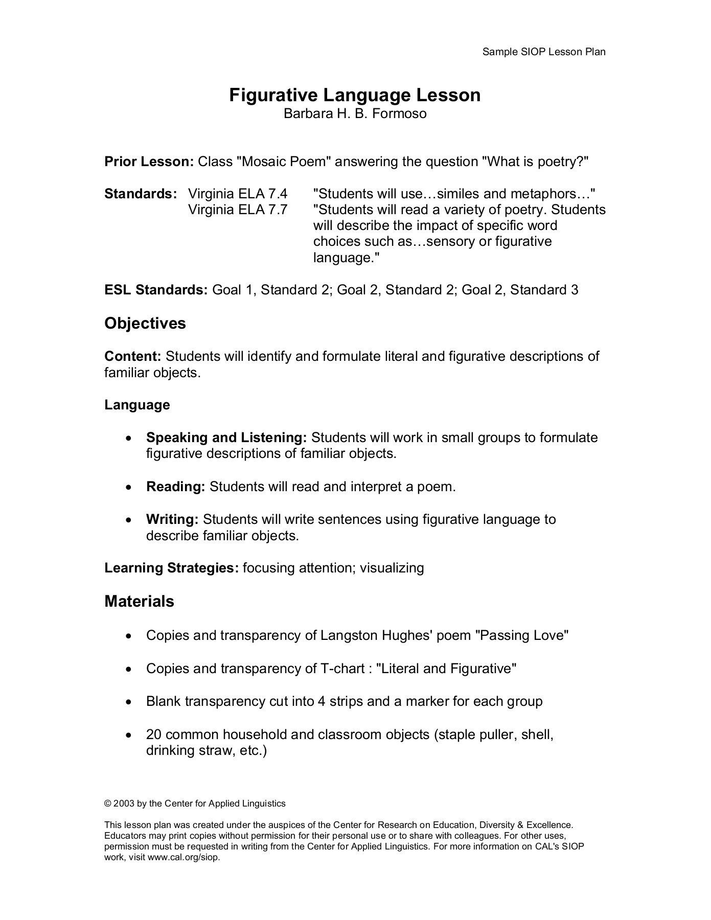001 Unusual Siop Lesson Plan Template 1 Example High Definition Full