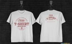 001 Unusual T Shirt Template Psd Idea  Design Mockup Free White Collar