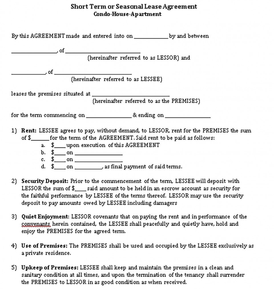001 Unusual Template For Property Rental Agreement Highest Clarity  Sample Commercial960
