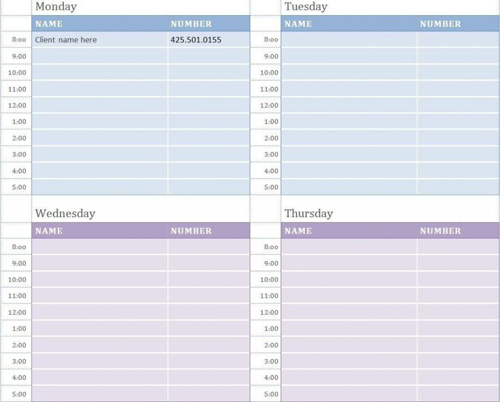 001 Unusual Weekly Appointment Calendar Template High Def  Free WordLarge