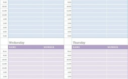 001 Unusual Weekly Appointment Calendar Template High Def  Free Word