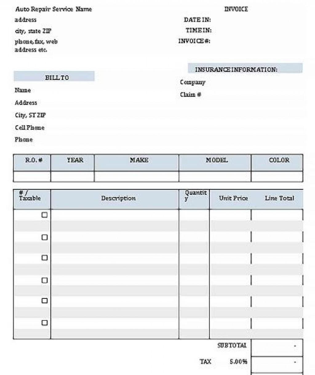 001 Wonderful Auto Repair Order Template Highest Clarity  Work Free Automotive CarLarge