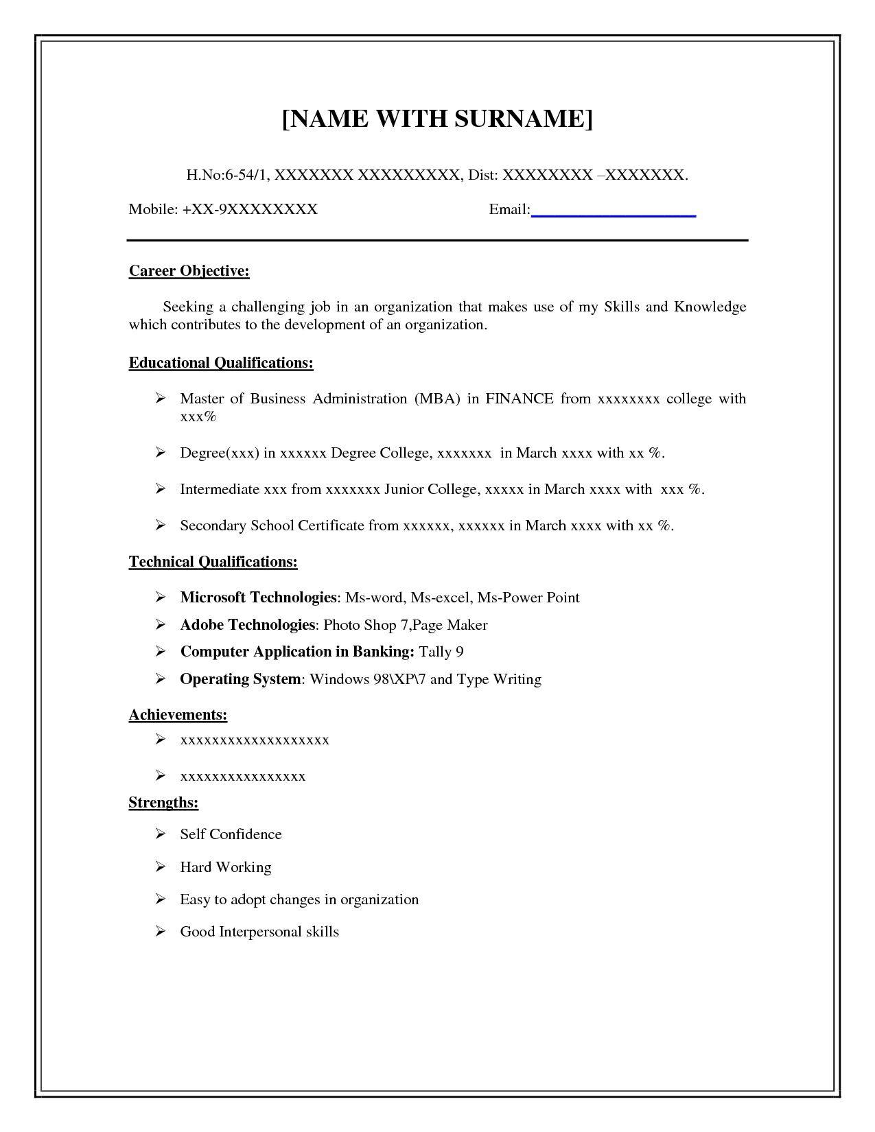 001 Wonderful Basic Resume Template Free High Def  Easy Download Word Australia DocFull
