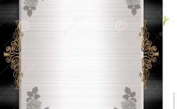 001 Wonderful Black And Gold Invitation Template Sample  Design White Free Printable