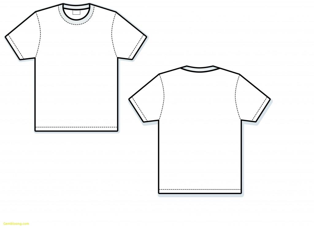 001 Wonderful Blank Tee Shirt Template Photo  T Design Pdf Free T-shirt Front And Back DownloadLarge
