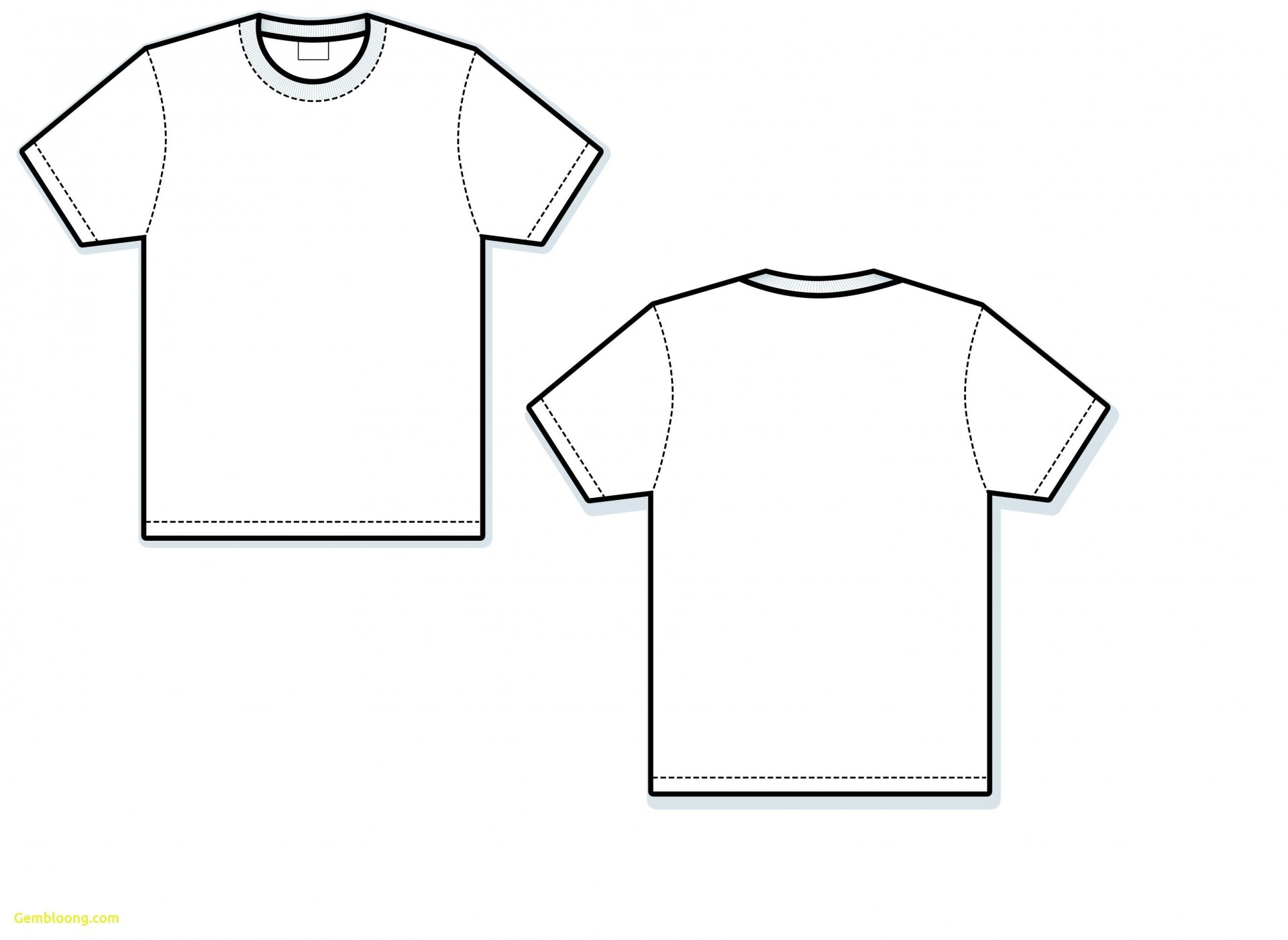 001 Wonderful Blank Tee Shirt Template Photo  T Design Pdf Free T-shirt Front And Back Download1920