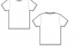 001 Wonderful Blank Tee Shirt Template Photo  T Design Pdf Free T-shirt Front And Back Download