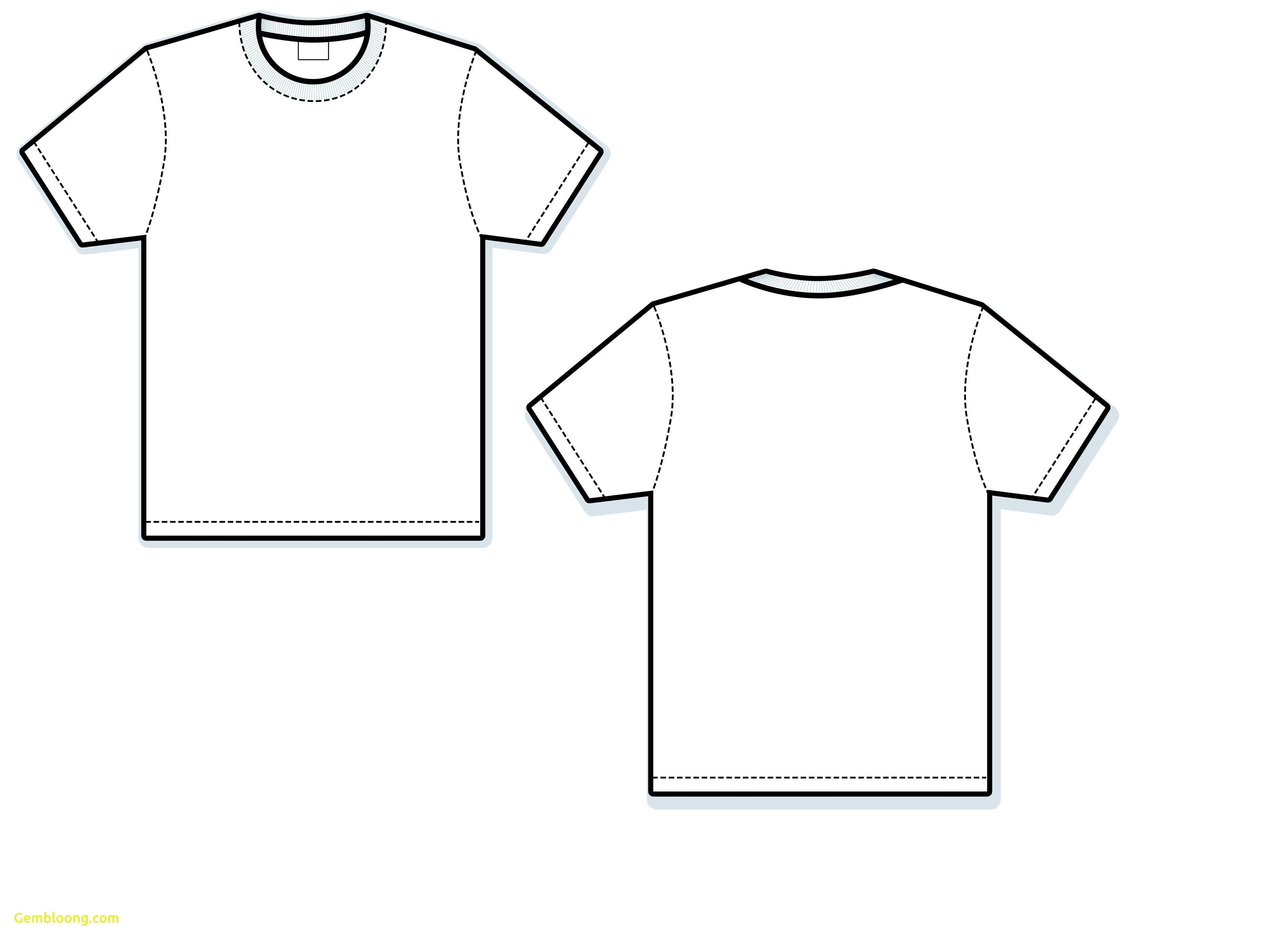 001 Wonderful Blank Tee Shirt Template Photo  T Design Pdf Free T-shirt Front And Back DownloadFull
