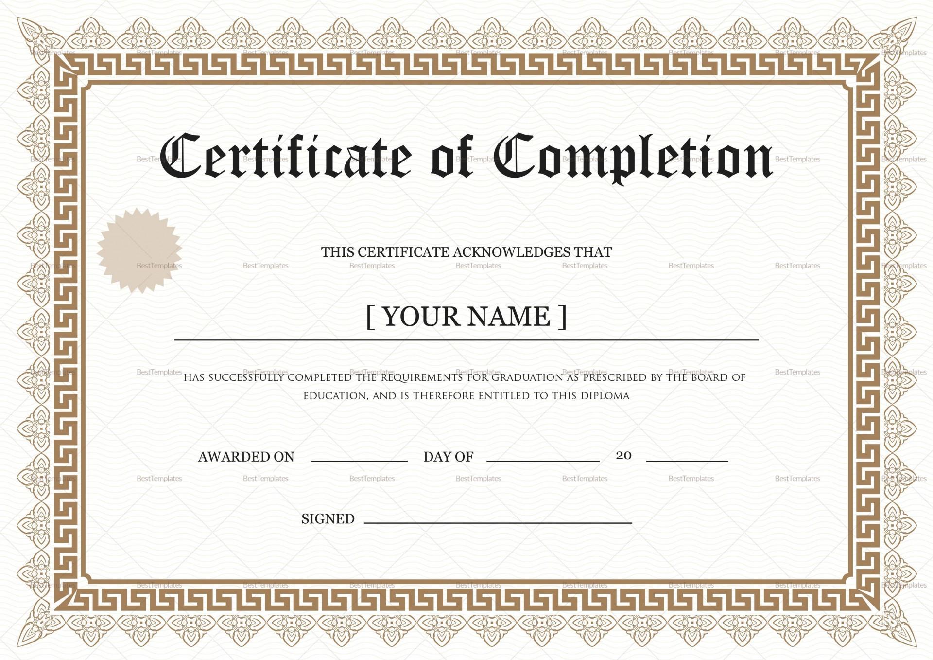 001 Wonderful Degree Certificate Template Word Photo 1920