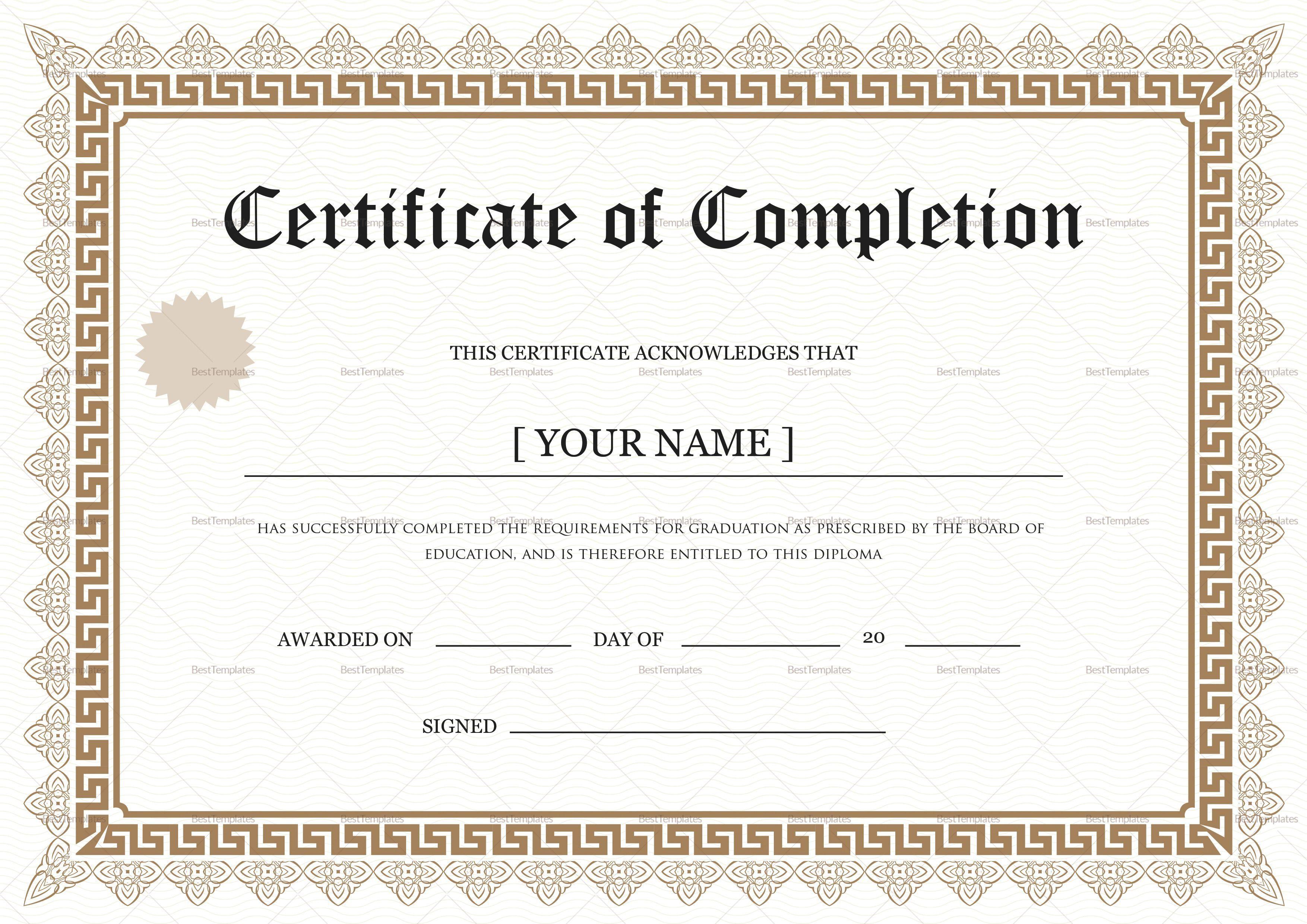 001 Wonderful Degree Certificate Template Word Photo Full
