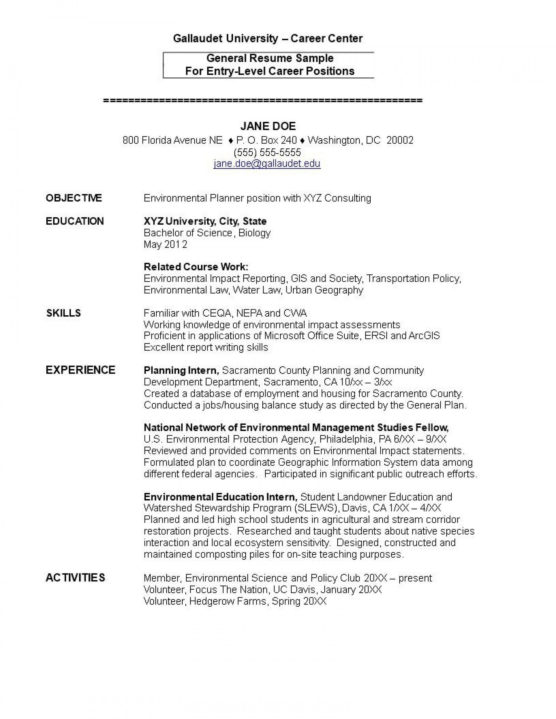 001 Wonderful Entry Level Resume Template Word Download Highest Quality Full