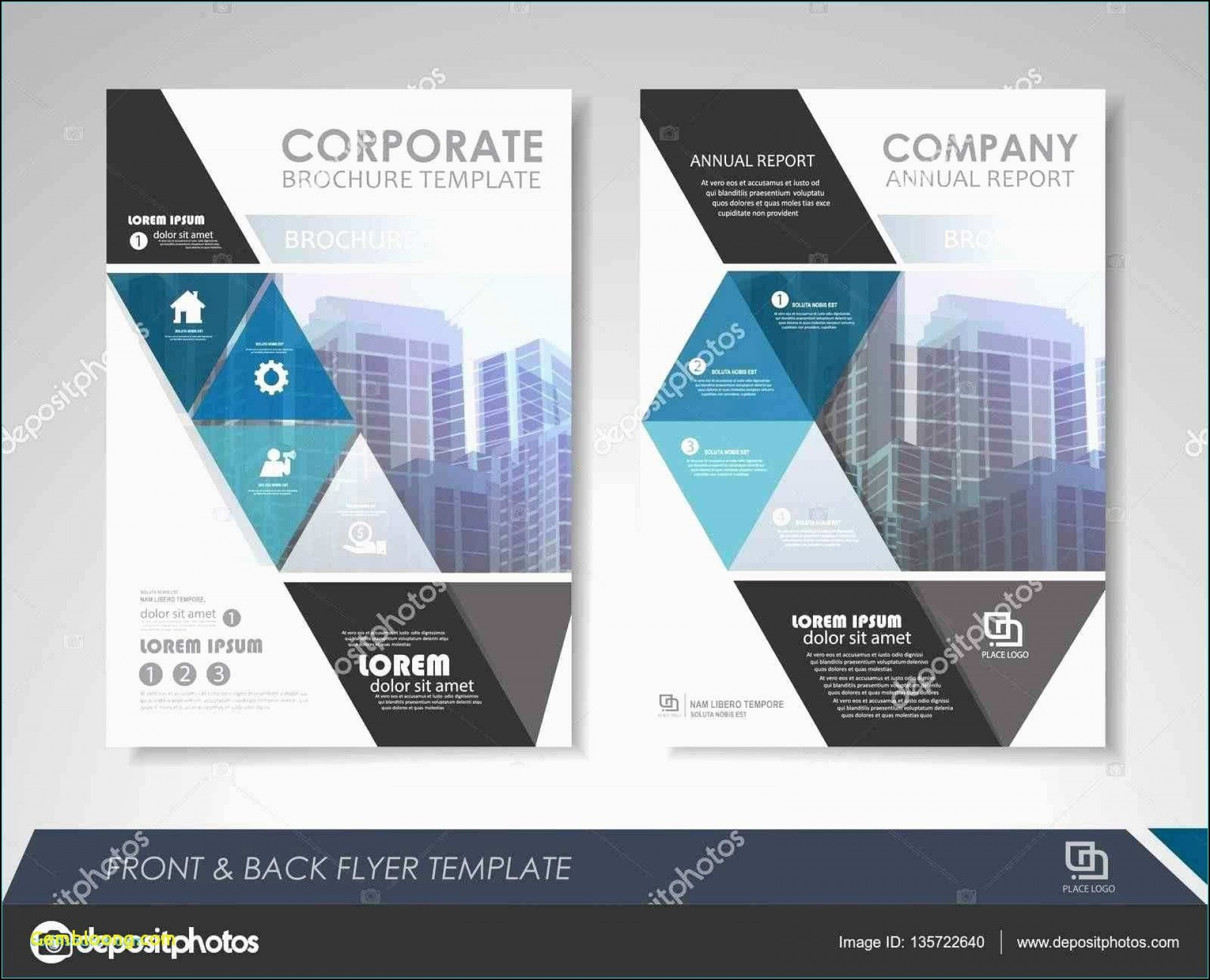 001 Wonderful Free Brochure Template Psd Photo  A4 Download File Front And Back Travel1920
