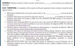 001 Wonderful Free Exclusive Distribution Agreement Template Uk High Resolution