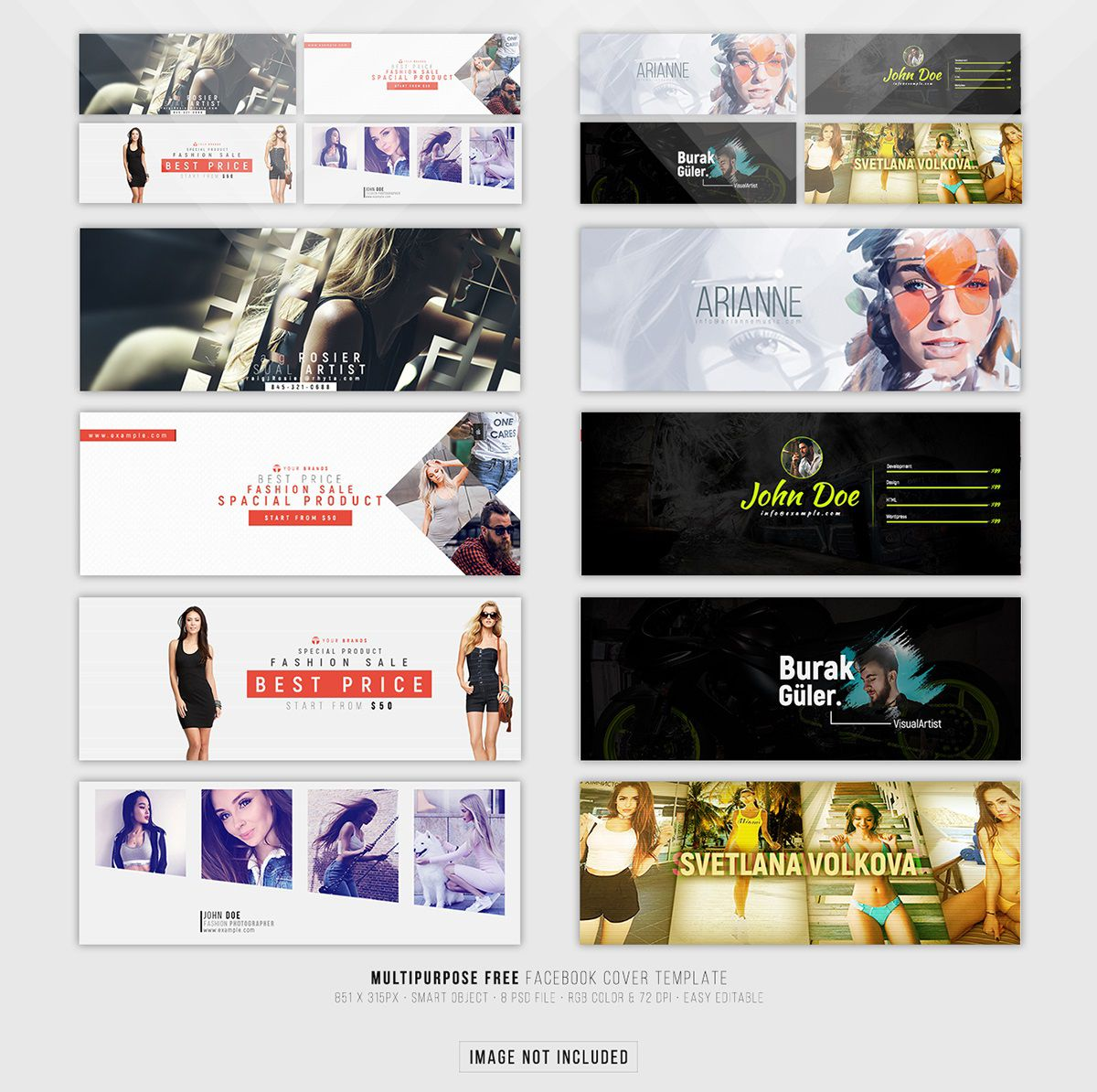 001 Wonderful Free Facebook Cover Template Example  Templates PhotoshopFull