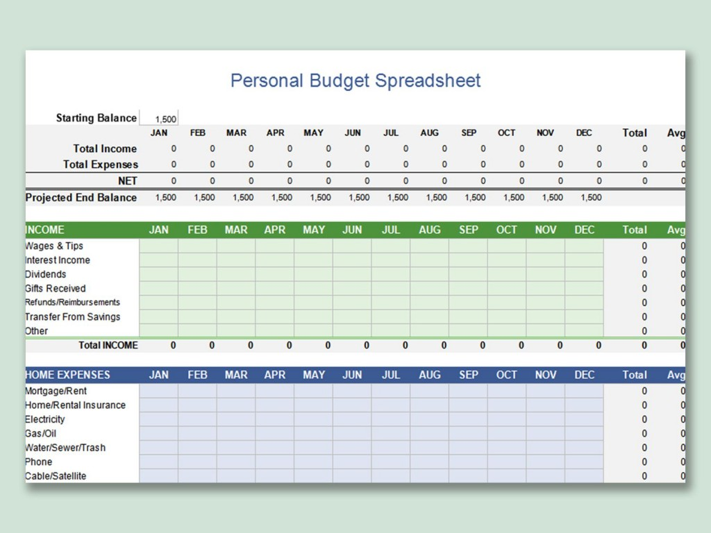 001 Wonderful Free Microsoft Excel Personal Budget Template Photo  TemplatesLarge