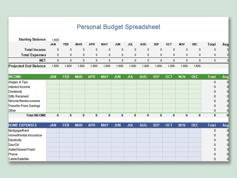 001 Wonderful Free Microsoft Excel Personal Budget Template Photo  TemplatesFull