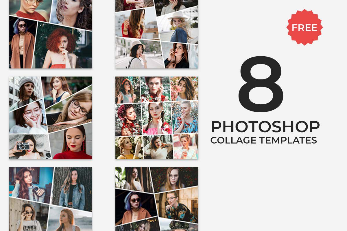001 Wonderful Free Photo Collage Template Psd Idea  Photoshop Download Heart Shaped For ElementFull