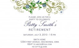 001 Wonderful Free Retirement Invitation Template Photo  Templates Microsoft Word Party Flyer